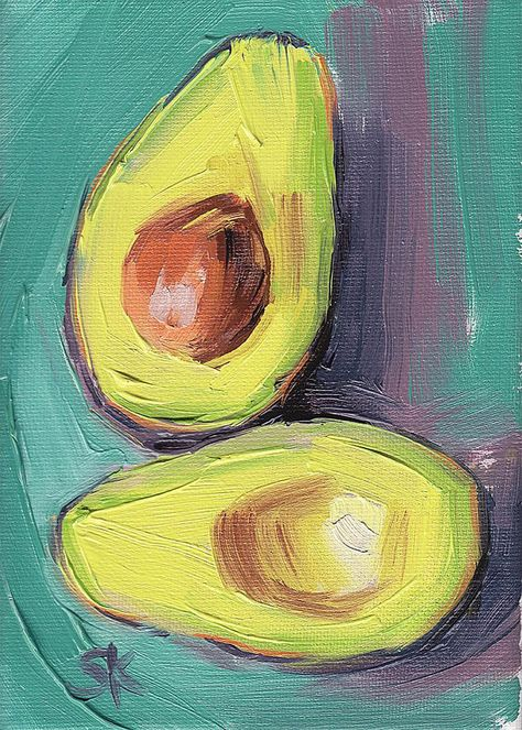 green avocado kitchen art oil painting giclee print // // Avocado Connection 1 // Aqua Collection - - decoration ideas with paper Art Inspo, Kunst Inspo, Painting Inspiration, Portrait Renaissance, Art Anime, Your Paintings, Art Oil Paintings, Food Art Painting, China Painting