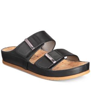 dbabb190e2c9 Bare Traps Cherilyn Slide Flat Sandals - Black 8M