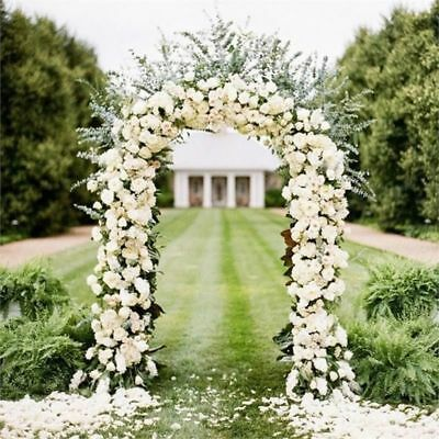 White Metal Arch 7 5 Ft For Wedding Party Bridal Prom Garden Floral Decoration Ebay Wedding Arch Flowers Arch Flowers Metal Wedding Arch