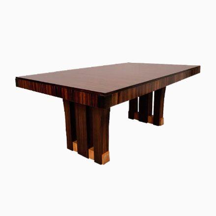 Französischer Makassar Holz Esstisch, 1940er Jetzt bestellen unter ...
