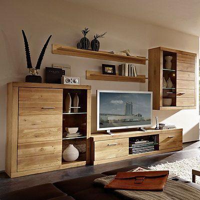 Ebay Angebot Wohnwand Pur Anbauwand Wohnzimmer In Wildeiche Massiv