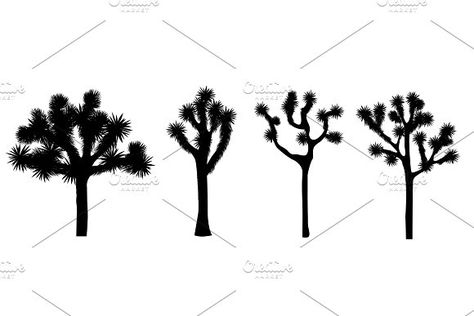 Joshua tree vector collection by Toltemara on @creativemarket