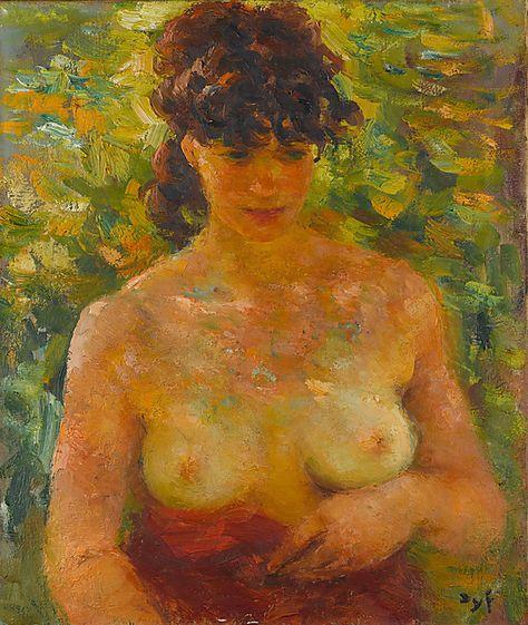 Nude Torso in Sunlight  Marcel Dyf (French)