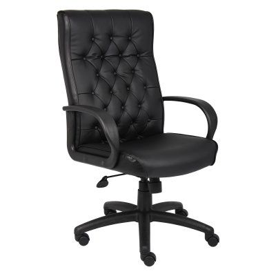 Boss Button Tufted Executive Chair B8501 Bk Durable Executive