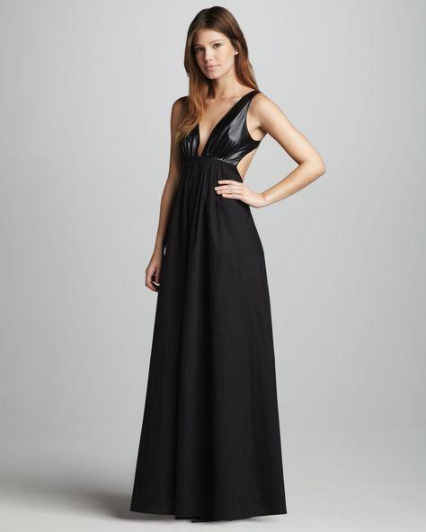 6da86ab8c9c6a Blaque Label Faux-Leather-Top Maxi Dress - Neiman Marcus | FASH ...