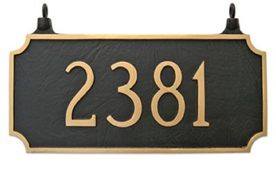 Two Sided Princeton Address Plaque Hanging Address Plaque Hanging Signs Hanging