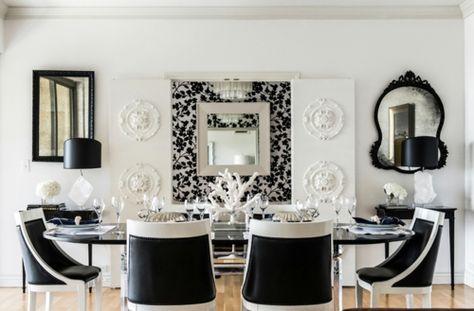 Esszimmer schwarz weiß  Inneneinrichtung in Schwarz Weiß – 20 Esszimmer Interieurs | möbel ...