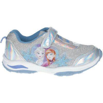 Disney frozen 2 anna elsa Kids Light Up Trainers Athletic Shoes Sneakers Sz 9