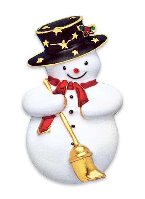 Adorable Snowman Pin at http://www.AmeriMark.com.  #holidayjewelry #snowmanpin #snowmanjewelry #amerimark