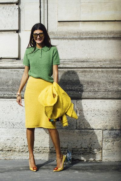 Citrus Knits - The Best Outfits Worn to Paris Fashion Week - Photos