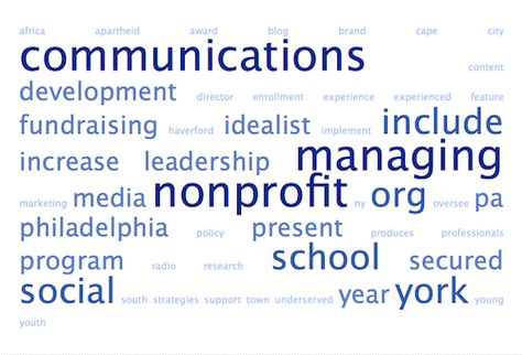 Use a word-cloud app to ensure you use the language of the job - development director job description