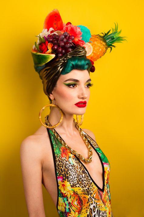 Carnival Headpiece Black With Gold Trim Fiigree Burlesque Ladies Fancy Dress