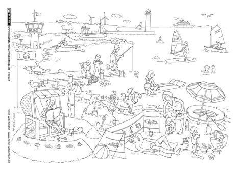Malvorlagen Meer Und Strand Englisch - Malbild