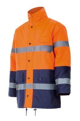 Parka Alta Visibilidad Bicolor Naranja Marino Leroy Merlin Parka Ropa De Trabajo Ropa Suprema