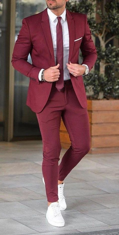 DescriptionMen Suit, formal Summer Suit Burgundy 2 Piece Suit Slim Fit Suits Beach wedding suits menSuitsFabric:- Premium FabricColor:- BurgundyClassic Summer Season suit , hip length Jacket .Two deep pockets at the bottom and breast pocket finished with Black satin bindingPerfect for wedding, beach party, and Casually as well.Perfect gift for the perfect man or just as a personal treatFREE FAST 5-7 DAY ORDER TO DELIVERY SHIPPING ACROSS THE ENTIRE USA Blazer Outfits Men, Mens Fashion Blazer, Stylish Mens Outfits, Suit Fashion, Mens Fall Outfits, Mens Casual Suits, Mens Suits Style, Suit Styles For Men, Best Suits For Men