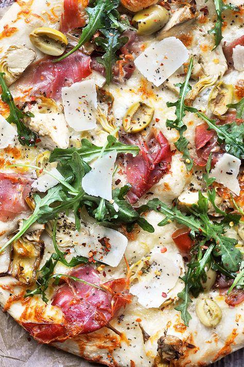 Charcuterie Pizza with Prosciutto and Artichokes - Little Kitchen. Big World