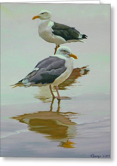 Sea Gulls Greeting Card For Sale By Kenneth Young En 2020