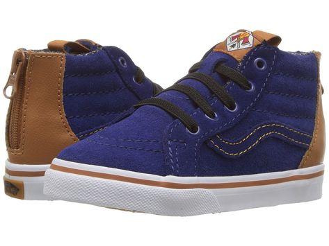 980bcbbc4c Vans Kids Sk8-Hi Zip (Toddler) Boys Shoes (MTE) Blue Depths ...
