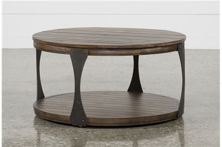 Blanton Round Cocktail Table Coffee Table With Wheels Round