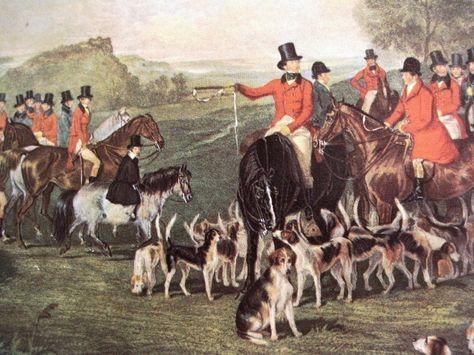 English Fox Hunt scene!