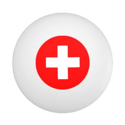 Special Ping Pong Ball With Flag Of Switzerland Zazzle Com Switzerland Flag Flag Customized Gifts