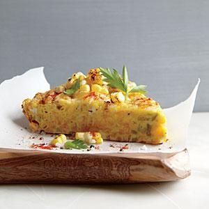 Corn Frittata with Pecorino-Romano Cheese   MyRecipes.com