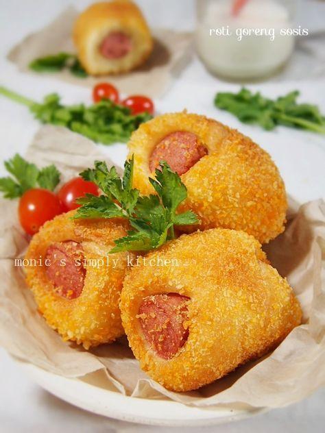 Membuat Roti Goreng Sosis Makanan Dan Minuman Resep Makanan Resep Sosis