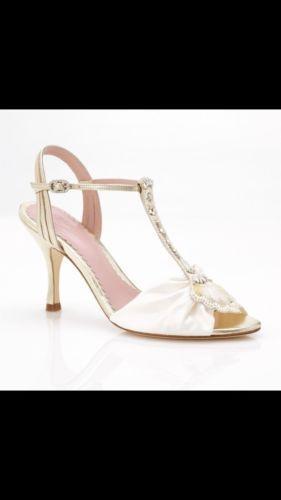 Emmy London Gold Ivy Bridal Shoe Us Size 7 Eu 37 Uk 4 Retail Price 636 00 Bridal Shoes Wedding Shoes Shoes