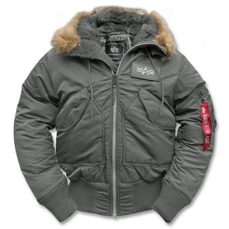 CWU Hooded Fliegerjacke gun metal   ALPHA   Winter jackets