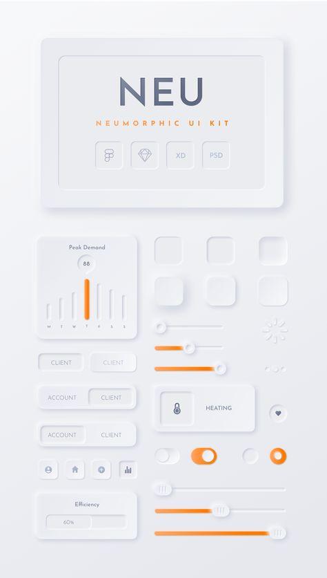 Neumorphic Soft UI Kit - NEU