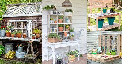 30 Creative and Functional Potting Bench Ideas