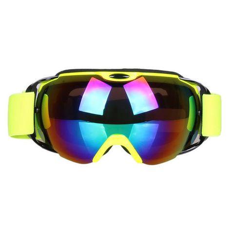 b901b59b3e0 Double Lens UV400 Big Ski Mask Glasses Skiing Goggles Anti-fog Ski  Snowboard Snowboarding Winter Ice Snow Sports Eyewear