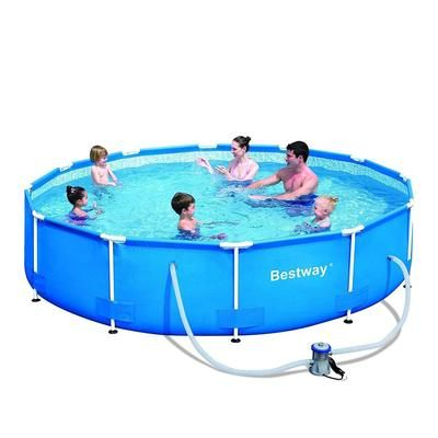 Steel Pro 12 X 48 Frame Pool Set In 2021 Above Ground Swimming Pools In Ground Pools Small Above Ground Pool