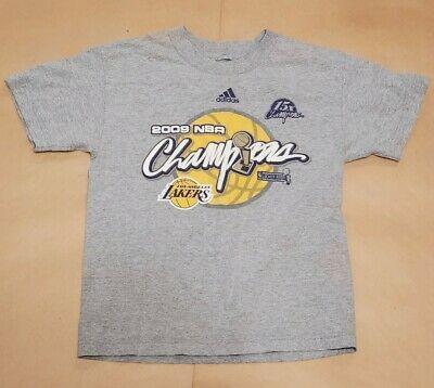 Adidas Los Angeles Lakers 2009 Nba World Champions T Shirt Size Kids Fashion Sports Mem Cards Fan Shop In 2020 Adidas Los Angeles Long Sleeve Tshirt Men T Shirt