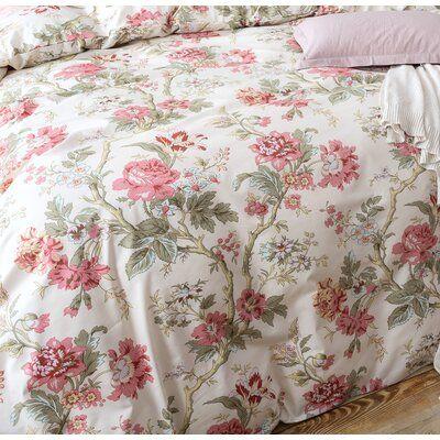 Charlton Home Haitham Peony Toile Duvet Cover Set In 2021 Luxury Bed Sheets Duvet Cover Sets White Bedroom Decor