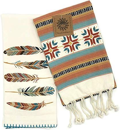 Kay Dee Designs Southwest Adobe Cross Fouta Towel And Adobe Feathers Krinkle Flour Sack Towel Set Flour Sack Towels Fouta Towels Towel Set