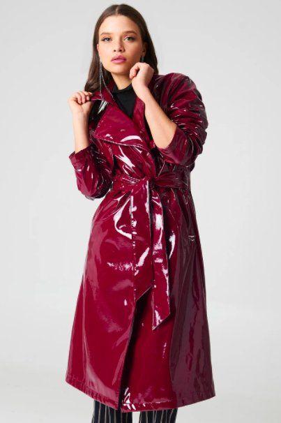 NA KD Patent Trench   Raincoats for women, Fashion, Rainwear