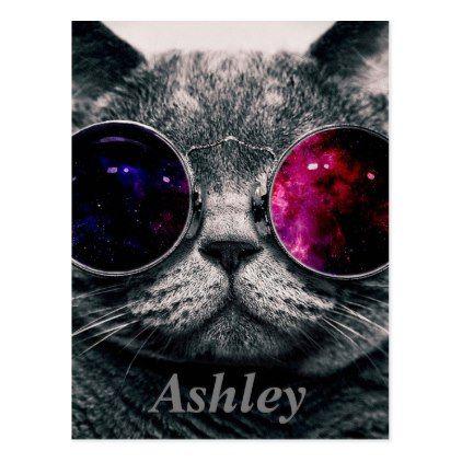 Sunglasses Cat Postcard Zazzle Com Cat Sunglasses Cat Wallpaper Animal Paintings