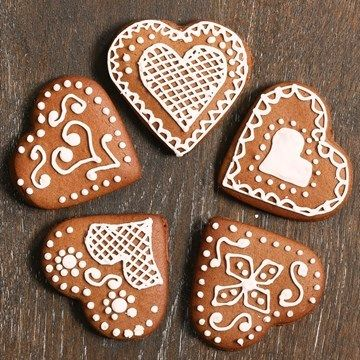 German Heart Biscuits Recipe Christmas Biscuits Biscuit Decoration Gingerbread