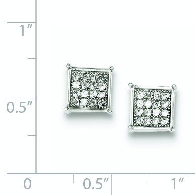 925 Sterling Silver Cubic Zirconia Cz Post Stud Earrings Ball Button Fine Jewelry Gifts For Women For Her