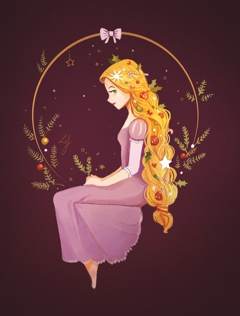 Christmas Rapunzel · Ludmila-Cera-Foce · Online Store Powered by Storenvy
