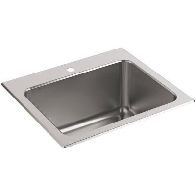 Kohler Ballad 22 In X 25 In Stainless Steel 3 Hole Utility Sink