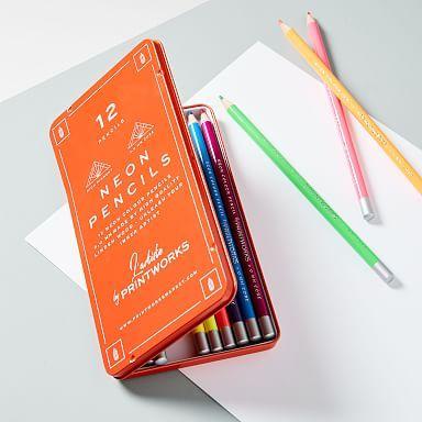 Colored Pencils, Colored Desk Accessories