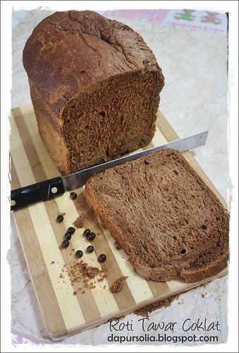 Chocolate Bread Loaf Roti Tawar Coklat Chocolate Bread Chocolate Recipes Cake Desserts