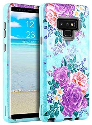 the latest 90e6a 4f1b3 Amazon.com: GUAGUA Galaxy Note 9 Case Samsung Note 9 Case Peonies ...