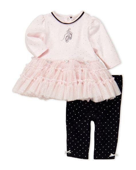 12d732ce0767 Newborn Infant Girls) Two-Piece Dress   Leggings
