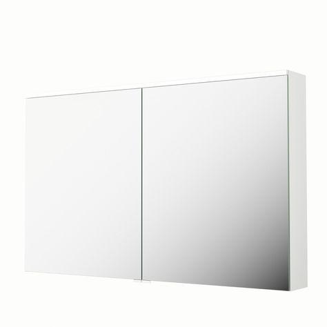 Armoire De Toilette Lumineuse L 120 Cm Blanc Sensea Neo