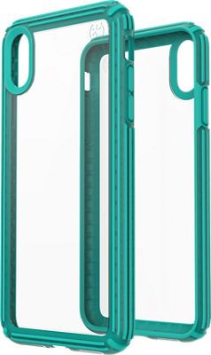 official photos 633a5 27c1e Speck Presidio V-Grip Case for iPhone Xs Max, Clear/Blue | Products ...