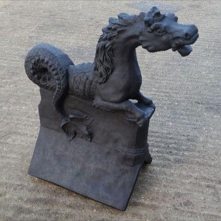 Poseidon Sea Horse Roof Finial Anthracite In 2020 Horses Poseidon Seahorse