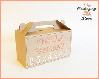 10 Gable Lunch Boxes Picnic Box Idea Kraft Boxes School Boxes Paper Box Portable Box Food Box Take Away Box Birthday Party Gift Box Ideas Birthday Party Gift Paper Box Picnic Box